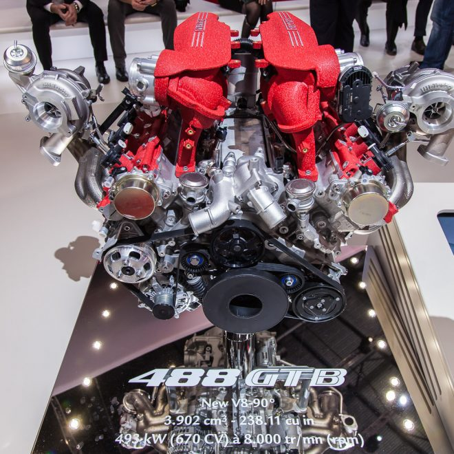 Ferrari 488 GTB engine