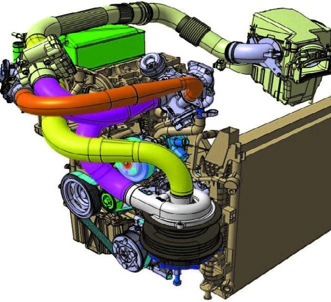 Sistema di raffreddamento motore